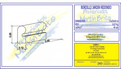 Ud. Bordillo Jardín Redondo – 30 x 25 x 12 cm.