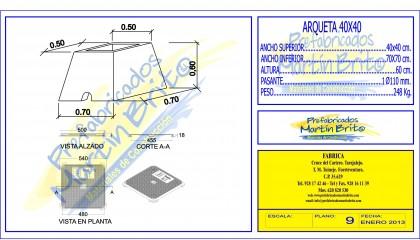 Ud. Arqueta Prefabricada – 40×40