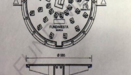 Tapa de fundición, Registro FD D400.